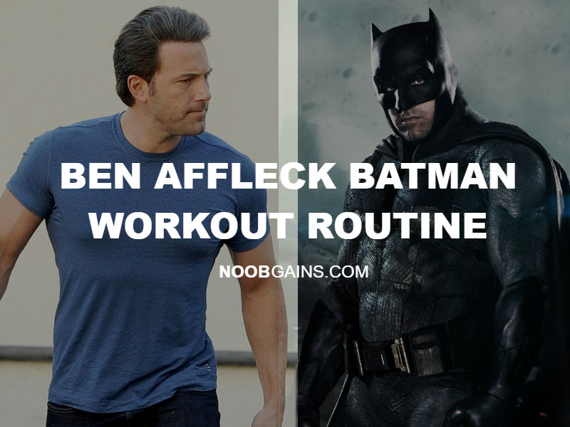 Ben affleck batman workout routine image