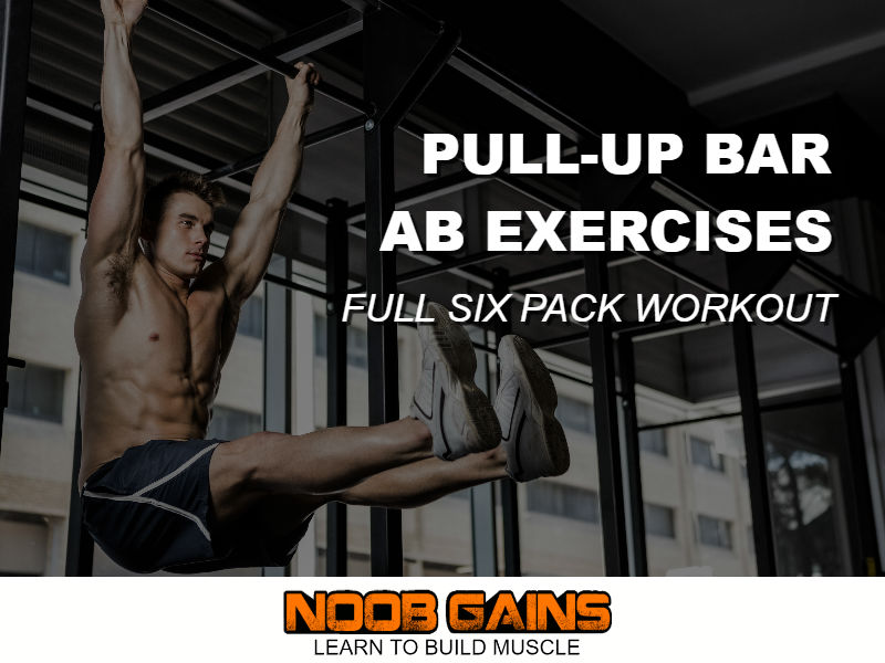Abs workout pull up bar image