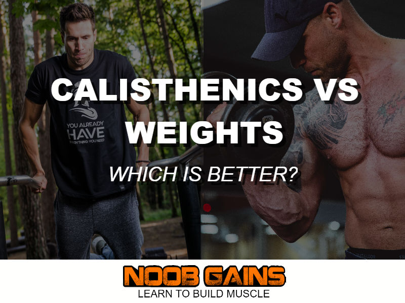 Calisthenics vs weights bodybuilding image