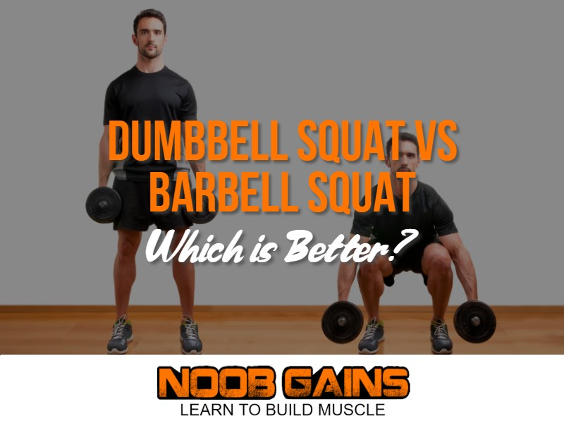 Dumbbell squat vs barbell squat image