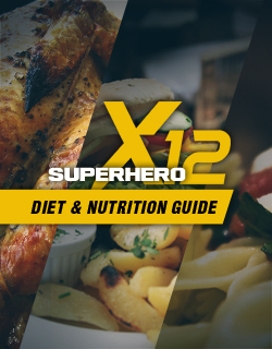 Superhero x12 diet nutrition guide image