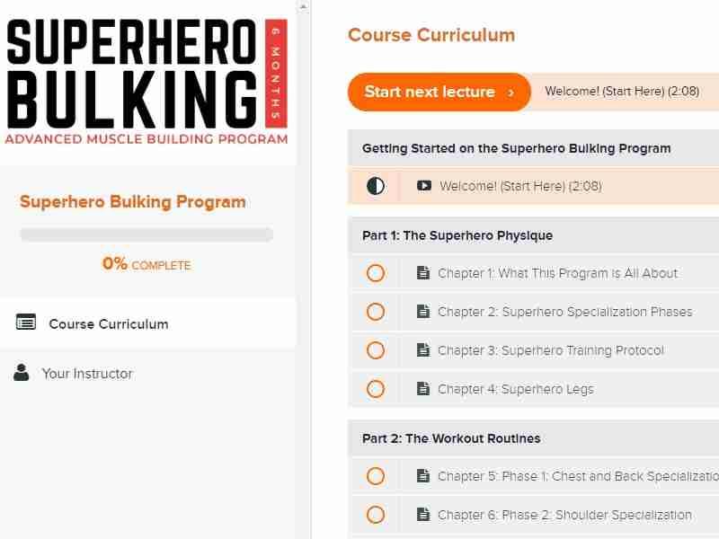 Superhero bulking program image