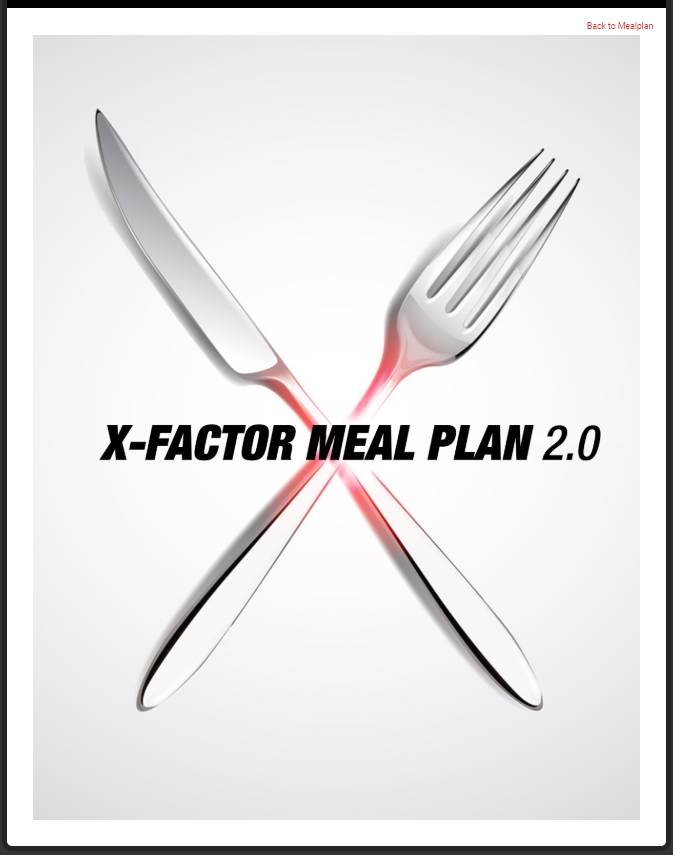 Athlean x max shred meal plan image