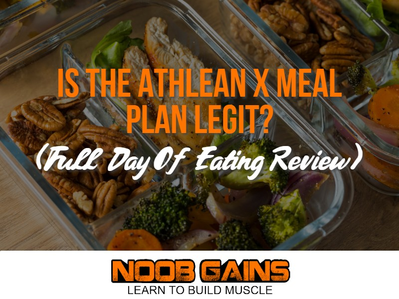 Athlean x meal plan image