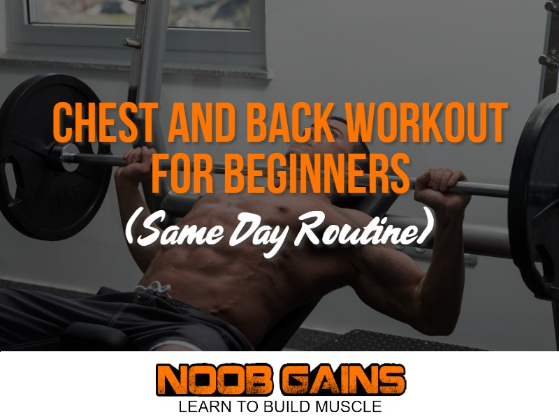 Chest and back workout same day image