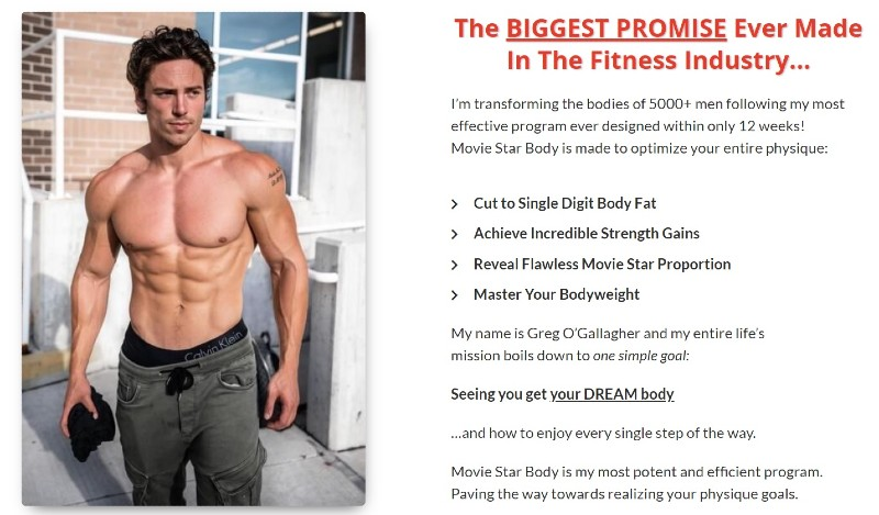 Movie star body sales page image