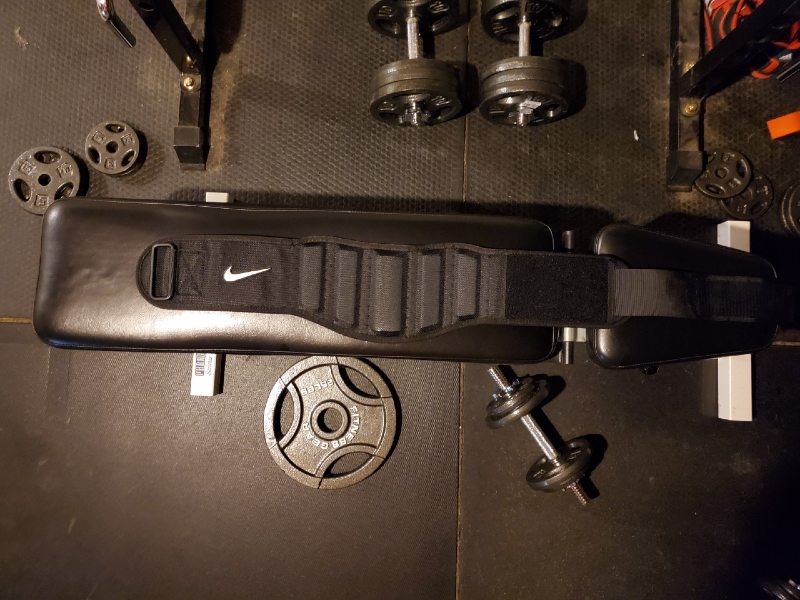 Nike structured training belt design image