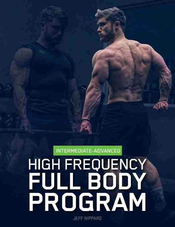 Jeff nippard high frequency full body program image