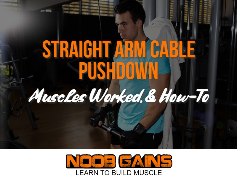 Straight arm cable pushdown image