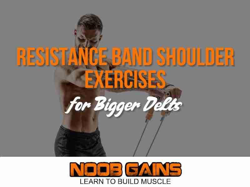 Resistance band shoulder exercises image