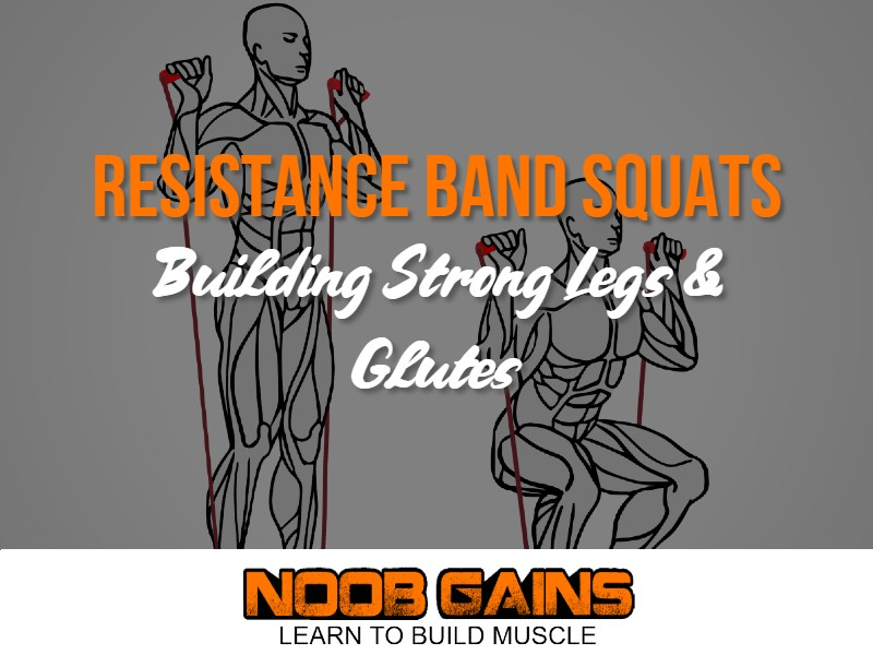 Resistance band squats image