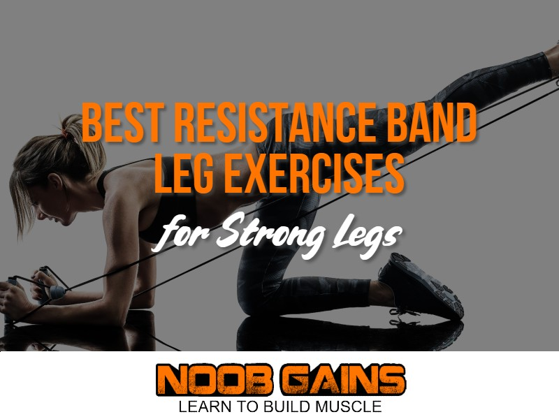 Resistance bands leg exercises image