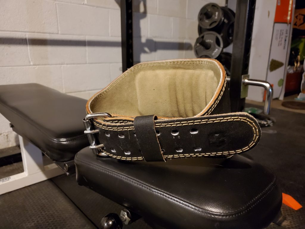 What is the harbinger 4 in padded leather lifting belt image