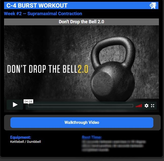 C-4 burst workouts image