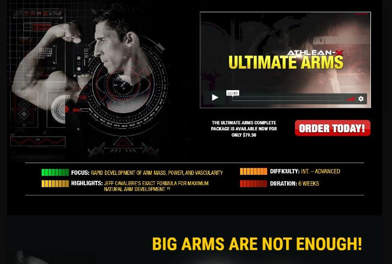 What is the athlean-x ultimate arm workout program? image