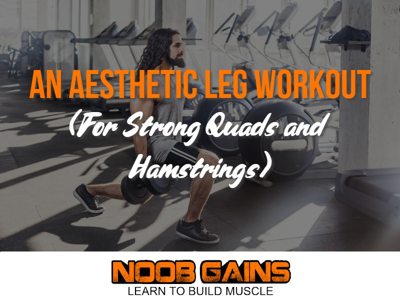 Aesthetic leg workout image