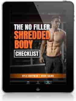 Shredded body checklist tablet image