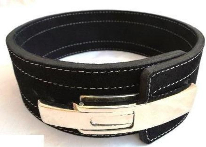 Weight lifting belt with lever image