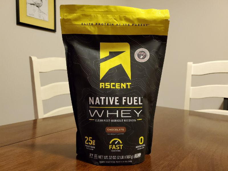 What is ascent native fuel whey protein powder? image