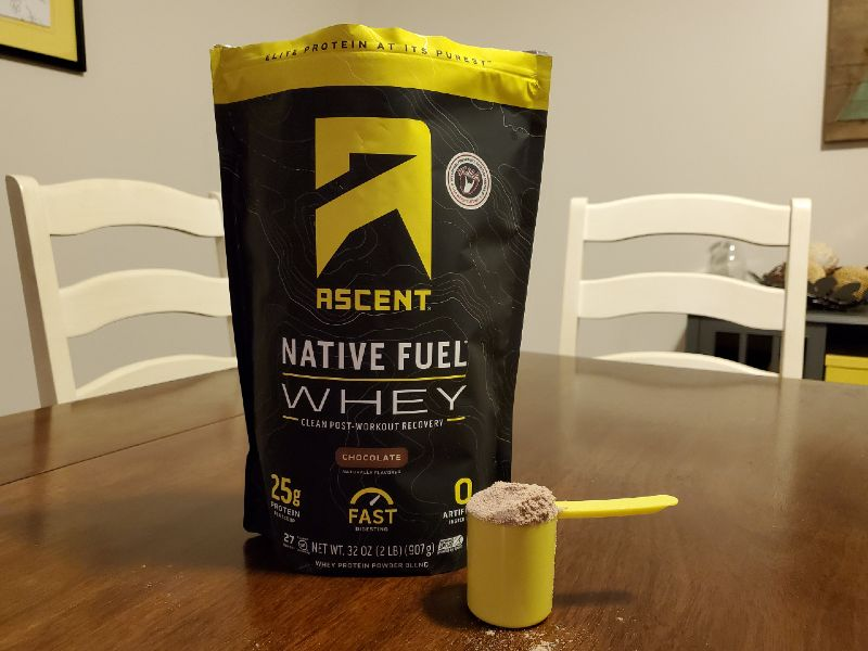 Ascent whey protein review image