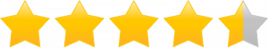 4.5 stars rating image