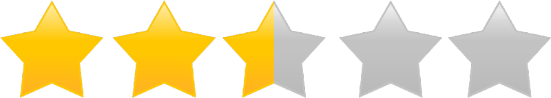 2.5 star rating smaller