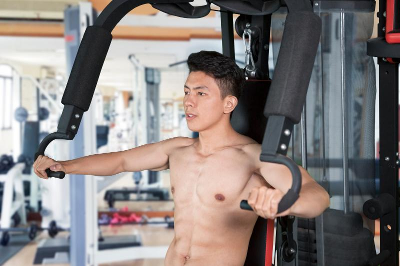 Aesthetic chest workout image
