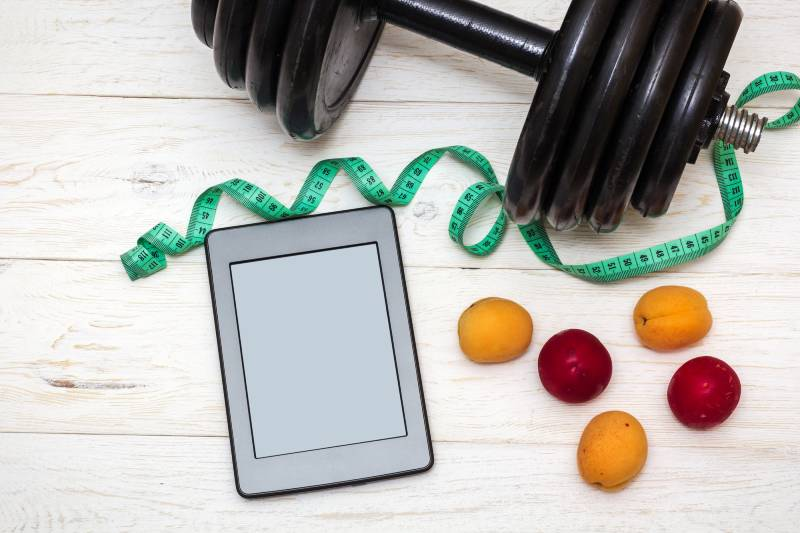 Ipad fruits and weights image