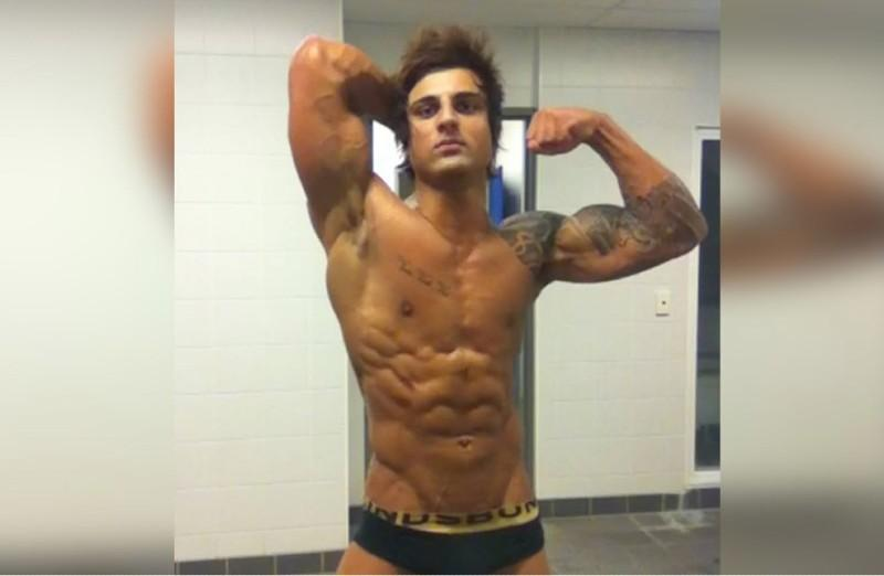 Zyzz aesthetic workout image